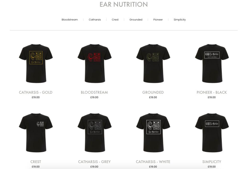Ear Nutrition Merch