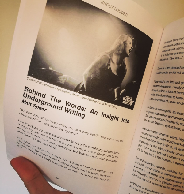 'Behind The Words: An Insight Into Underground Writing'